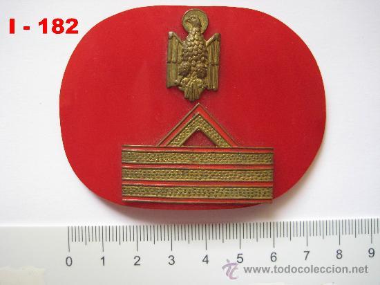 INSIGNIA - GALLETA DE SARGENTO 1º DE LA POLICIA NACIONAL. (Militar - Insignias Militares Extranjeras y Pins)