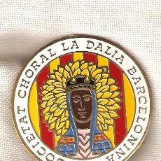 Militaria: LOTE DE 10 PLACAS SOCIETAT CHORAL LA DALIA BARCELONINA DE 4.80 CMS.DIÁMETRO-REVERSO AGUJA. Lote 33217731