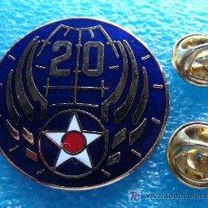 Militaria: INSIGNIA MILITAR. DOBLE PIN. US ARMY. USAF 20TH AIR FORCE. 20 DIVISIÓN DE FUERZAS AÉREAS USA. . Lote 17847583