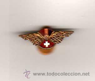 INSIGNIA REPUBLICANA HISPANO SUIZA ( ESMALTADA ) EN EL REVERSO MOLAS, BARCELONA (Militar - Insignias Militares Españolas y Pins)