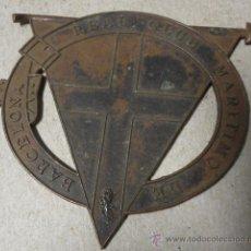 Militaria: INSIGNIA POR TERMINAR, REAL CLUB MARÍTIMO DE BARCELONA. Lote 18572274