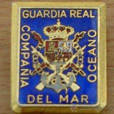 Militaria: DISTINTIVO INSIGNIA DE LA GUARDIA REAL DEL REY JUAN CARLOS I COMPAÑIA DEL MAR OCEANO. Lote 27069150