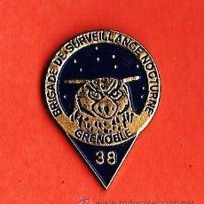 Militaria: PIN.- BRIGADA DE VIGILANTES NOCTURNOS.- GRENOBLE.- FRANCIA.- METAL ESMALTADO.- CALIDAD. Lote 21080791