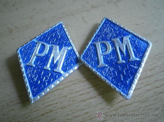 ROMBOS POLICÍA MILITAR O POLICÍA MUNICIPAL. (Militar - Insignias Militares Españolas y Pins)