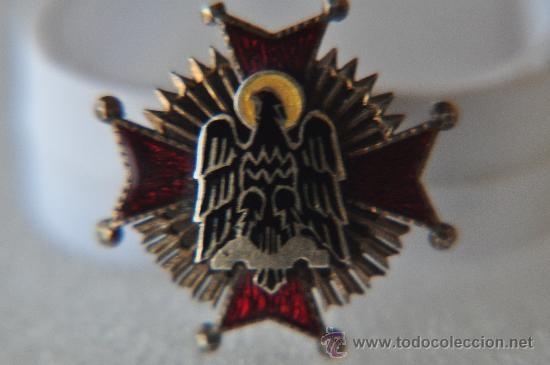 ORDEN DE CISNEROS 1944 ENCOMIENDA, MINIATURA PARA HOJAL. (Militar - Insignias Militares Internacionales y Pins)