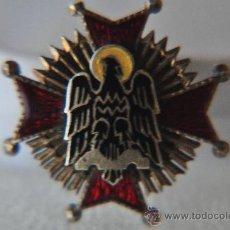 Militaria: ORDEN DE CISNEROS 1944 ENCOMIENDA, MINIATURA PARA HOJAL.. Lote 27500093