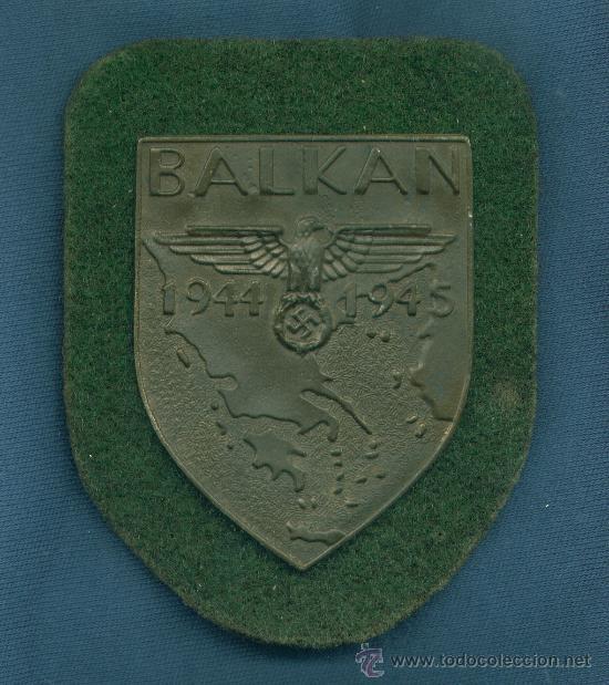 ALEMANIA III REICH. PLACA DE BRAZO BALKAN. MUY BUENA REPRODUCCIÓN DE LOS AÑOS 70-80. (Militar - Insignias Militares Extranjeras y Pins)