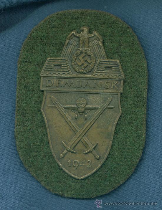 ALEMANIA III REICH. PLACA DE BRAZO DEMJANSK. MUY BUENA REPRODUCCIÓN DE LOS AÑOS 70-80. (Militar - Insignias Militares Extranjeras y Pins)