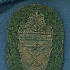 Militaria: ALEMANIA III REICH. PLACA DE BRAZO DEMJANSK. MUY BUENA REPRODUCCIÓN DE LOS AÑOS 70-80.. Lote 21919337