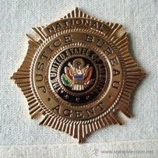 Militaria: PLACA AGENTE DE JUSTICIA DE ESTADOS UNIDOS DE AMÉRICA.. Lote 26792092