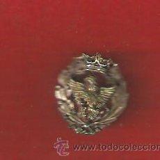 Militaria - INSIGNIA DE SOLAPA TIPÓGRAFO DE PLATA DE LEY CORONA ANTIGUA - 23834222