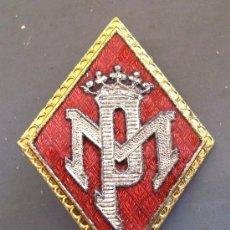 Militaria: INSIGNIA / ROMBO PM POLICIA MUNICIPAL (5X3,5CM APROX). Lote 29439499