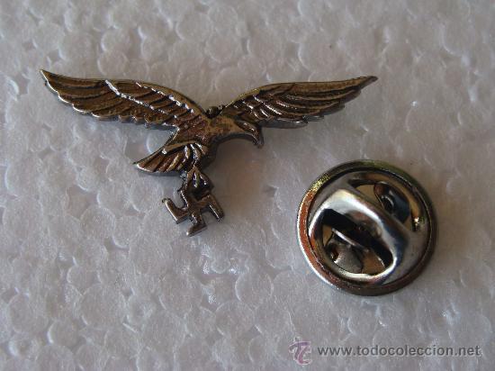 Militaria: PIN ALEMANIA . LUFTWAFFE. ÁGUILA ALEMANA Y ESVÁSTICA. METAL. III REICH. - Foto 2 - 110142067