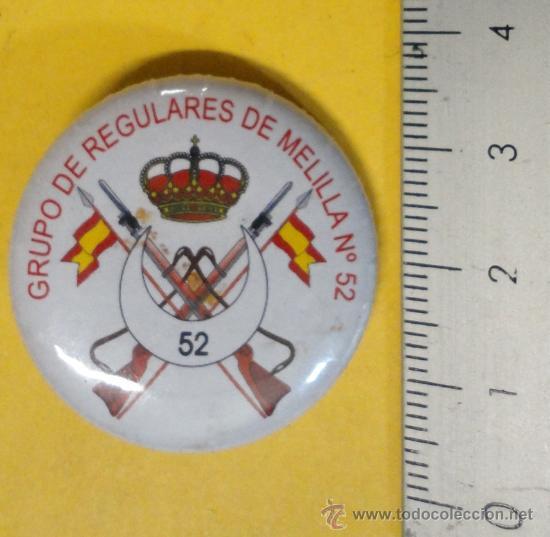 CHAPA DE AGUJA DE REGULARES. (Militar - Insignias Militares Españolas y Pins)