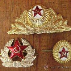 Militaria: INSIGNIAS RUSA DE GORRAS,CCCP - URSS, EJERCITO ROJO 100% ORIGINAL DE LA EPOCA ESTRELLA RUSA. Lote 108965910
