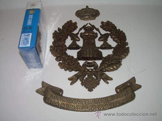 Militaria: METOPA EMBLEMA DE BRONCE.......REGIMIENTO DE TRANSMISIONES...SERVICIOS ESPECIALES. - Foto 5 - 29092636