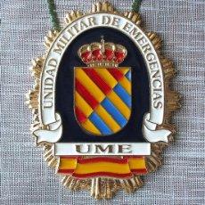 Militaria: PLACA INSIGNIA DE LA UNIDAD MILITAR DE EMERGENCIAS -UME-.. Lote 20854035