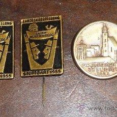 Militaria: LOTE DE DOS PINS DE LA FERIA DE BADEN WUETINDGARD 1953 Y 1955 Y OTRO DEL ANIVERSARIO DE LA CIUDAD. Lote 30176089