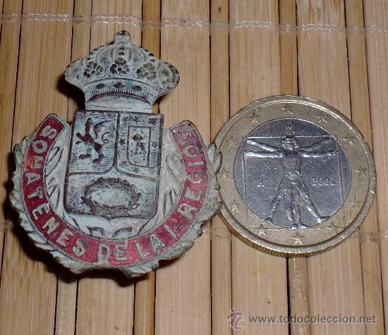 CHAPA DE SOMATENES DE TRINCHERA GUERRA CIVIL (Militar - Insignias Militares Españolas y Pins)
