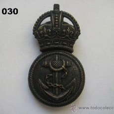 Militaria: REINO UNIDO : INSIGNIA BRITÁNICA DE LA MARINA REAL. ENVÍO CERTIFICADO GRATUITO.. Lote 31698933
