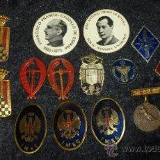 Militaria: LOTE MILITAR DE MEDALLA Y INSIGNIAS. GUERRA CIVIL Y POSGUERRA. PIEZAS BUENAS. . Lote 31784179