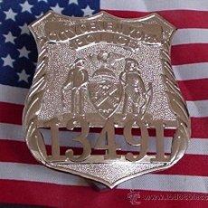 Militaria: PLACA DE PECHO DE LA POLICIA DE NEW YORK - ( ORIGINAL ). Lote 156526805