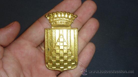 CHAPA DE BRAZO DEL CUERPO DE URGEL. GUERRA CIVIL. SIN PINTAR. (Militar - Insignias Militares Españolas y Pins)