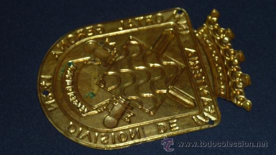 Militaria: Antigua Placa de brazo original de la division de infanteria inmortal gerona num 41 - Foto 3 - 32865231