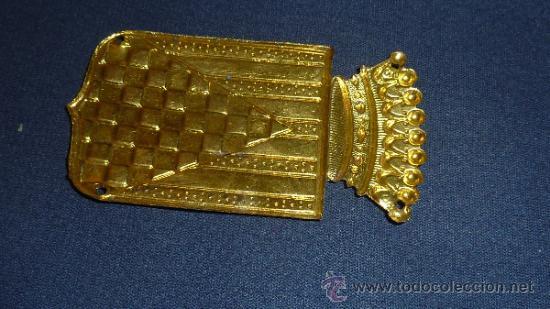 Militaria: Chapa de brazo del Cuerpo de Urgel. Guerra civil. Sin pintar. - Foto 2 - 32865201