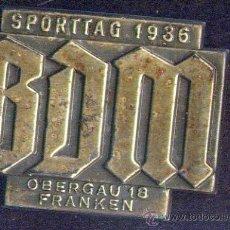 Militaria: NSDAP. BDM - SPORTTAG 1936 OBERGAU 18 FRANKEN. Lote 32898718