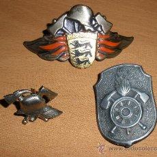 Militaria: JUEGO COCARDAS PARA GORRA DE BOMBEROS ALEMENIA. Lote 33470051