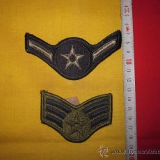 Militaria: USAF UNITED SATES AIR FORCE GALONES DE BRAZO AVIACION GRADUACION. Lote 34567027