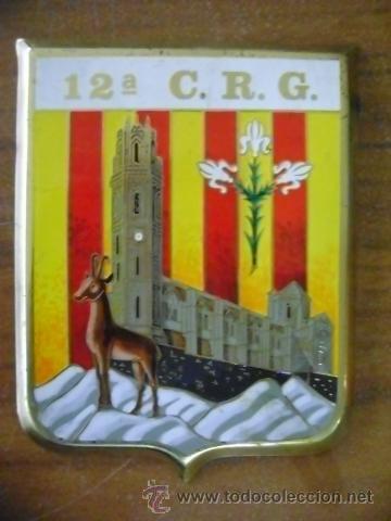 EMBLEMA METÁLICO 12 EN METAL (Militar - Insignias Militares Españolas y Pins)
