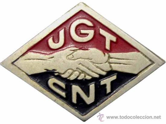 INSIGNIA CNT UGT. GUERRA CIVIL (Militar - Insignias Militares Españolas y Pins)