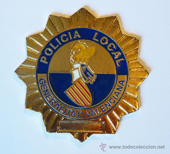 Militaria: CARTERA DE PIEL CON PLACA DE POLICIA LOCAL COMUNIDAD VALENCIANA - Foto 2 - 184161138