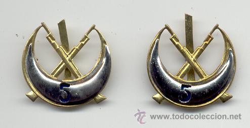 INSIGNIAS DE CUELLO DE REGULARES Nº 5 (Militar - Insignias Militares Internacionales y Pins)