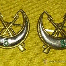 Militaria: INSIGNIAS DE CUELLO DE REGULARES Nº 5. Lote 35183336