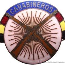 Militaria - INSIGNIA CARABINEROS REPUBLICANA. ESMALTADA. GUERRA CIVIL. MUY RARA REPUBLICA - 34848529