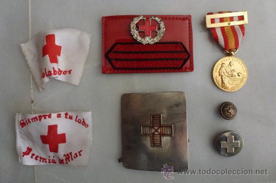LOTE CRUZ ROJA (Militar - Insignias Militares Españolas y Pins)
