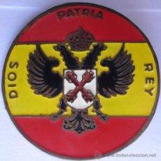 Militaria: CHAPA DE BOINA CARLISTA ESMALTADA REQUETE. Lote 35026393