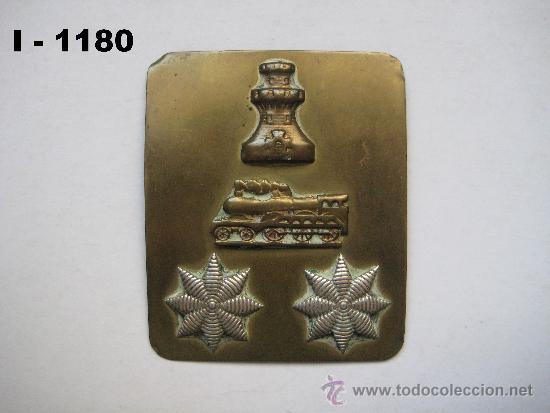 INSIGNIA - GALLETA DE CORONEL DE INGENIEROS (FERROCARRILES). ENVÍO CERTIFICADO INCLUIDO. (Militar - Insignias Militares Españolas y Pins)