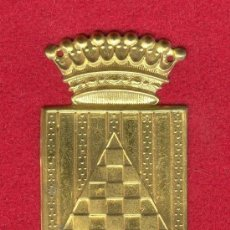 Militaria: EMBLEMA METALICO DEL CUERPO EJERCITO DE URGEL, FINAL GUERRA CIVIL ESPAÑOLA 1939, INICIOS AÑOS 40.. Lote 35233948