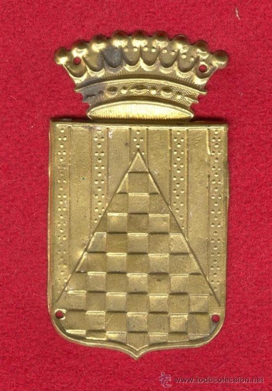 EMBLEMA METALICO DEL CUERPO EJERCITO DE URGEL, FINAL GUERRA CIVIL ESPAÑOLA 1939, INICIOS AÑOS 40. (Militar - Insignias Militares Españolas y Pins)