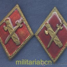 Militaria: ROMBOS DE CUELLO DE LA GUARDIA OFICIAL. ÉPOCA DE FRANCO. MODELO DE OFICIAL, ESMALTADOS.. Lote 35759880