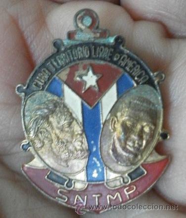 Militaria: Cuba. Distintivo. SNTMP. Cuba territorio libre de américa - Foto 2 - 35779916