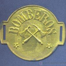 Militaria: BRAZALETE DE BOMBEROS, POSIBLEMENTE BOMBEROS VOLUNTARIOS. EPOCA ALFONSO XIII. DORADO.. Lote 35891096