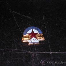 Militaria: INSIGNIA SOLAPERA - SINDICATO FERROVIARIO ITF - UGT, ESMALTADA ( ORIGINAL ) 2,5 X 2 CM, . Lote 36165765