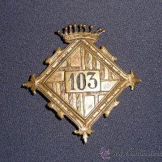 Militaria: PLACA DE POLICIA DE BARCELONA, MUY ANTIGUA, PRINCIPIOS DE S.XX. Lote 36259839