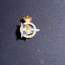 Militaria: ANTIGUA INSIGNIA ESMALTADA DE CLUB MARITIMO BARCELONA, ALFONSO XIII, MARINA.. Lote 36340929