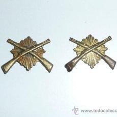 Militaria: PAREJA DE INSIGNIA DE CARABINEROS, ORIGINALES, II REPUBLICA Y GUERRA CIVIL.. Lote 36830151